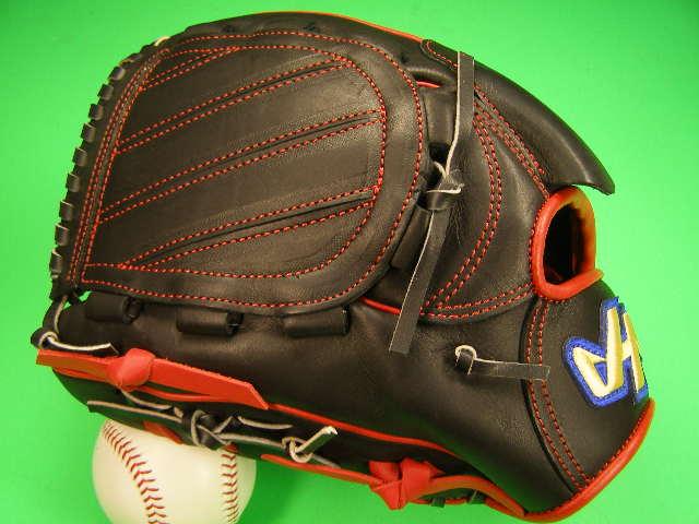 型付け無料 HATAKEYAMA ハタケヤマ 海外モデル 左投げ用 投手用 硬式用 ブラック×レッド 11.5インチ 内野 硬式 ソフトボール