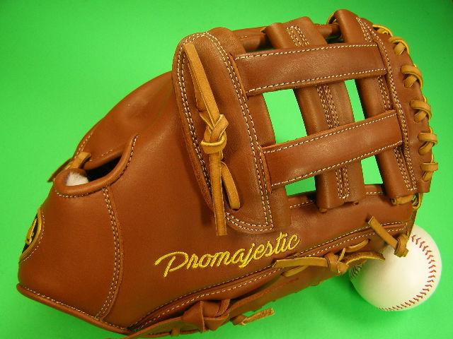 型付け無料 Diamond ダイアモンド 海外モデル 硬式野球対応 ファーストミット PRO MAJESTIC ブラウン×タン PM103 硬式 ソフト 野球 M号球 ファースト ミット