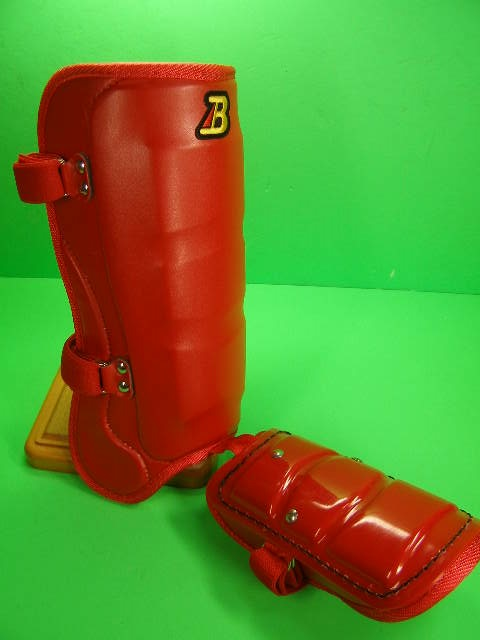 フットガードならベルガード プロ選手使用レベルです ベルガード BELGARD プロモデル ロング FG950 激安 ロングタイプ 赤 レッド フットガード 甲あり 最安値 合皮巻きタイプ