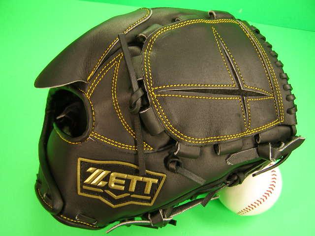 型付け無料 ゼット ZETT 海外モデル 硬式用 投手用 ブラック×イエロー糸 高校野球対応カラー GOLD LINE QOALITY 硬式 グローブ