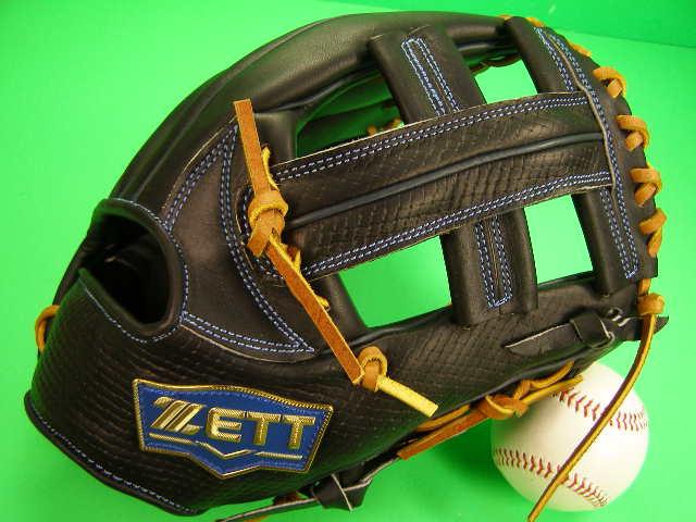 おすすめ 捕球感の良いグラブです ZETT ゼット海外モデル 限定商品です 送料無料 型付け無料 ゼット 海外モデル 内野用 ソフト 型押し革 海外 グローブ ブラック×タンヒモ 11.5インチ オンラインショッピング M号 硬式野球対応 内野 軟式 硬式