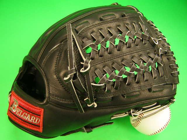 記念日 ベルガード BELGARD 人気デザインのグローブです 型付け無料 硬式用 オールラウンド用 学生野球対応カラー ソフトボール 野球 高級品 高校 ブラック