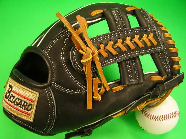 ベルガード BELGARD お求めやすく価格改定 新登場 人気デザインのグローブです 送料無料 型付け無料 硬式用 野球 内野用 ソフトボール ブラック×タンヒモ