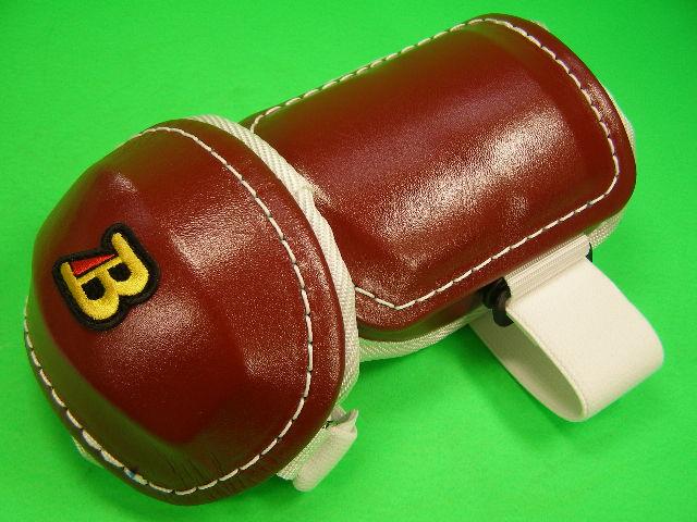 即納 新商品 アームガードならベルガード プロ選手使用レベルです ベルガード BELGARD プロ仕様 プロ仕様合皮巻きタイプ アームガード エルボー 選択 右打者用 左打者用 AL813 エンジ×ホワイト ガード