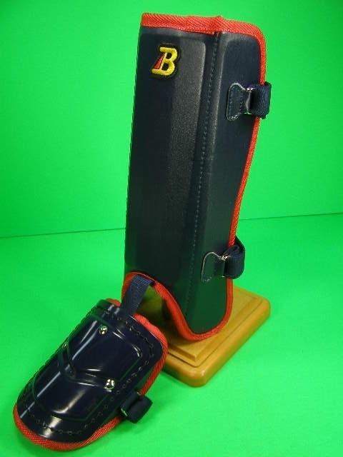 フットガードならベルガード ブランド激安セール会場 プロ選手使用レベルです ベルガード BELGARD FG912 プロ仕様合皮巻きタイプ ネイビー×レッド 保証 フットガード レッグガード ロングタイプ