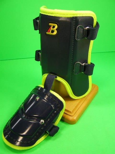 フットガードならベルガード プロ選手使用レベルです ベルガード BELGARD プロ仕様合皮巻きタイプ フットガード ガード ショートタイプ ネイビー×ネオンイエロー 付与 FG902 安心の定価販売 レッグ