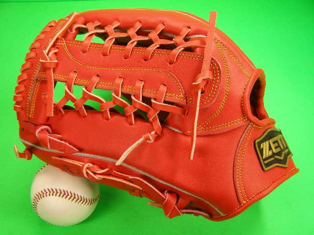 送料無料 型付け無料 ゼット ZETT 海外モデル 左投げ用 硬式用 外野用 オレンジ PRO MODEL GOLD LINE QOALITY 高校野球対応カラー