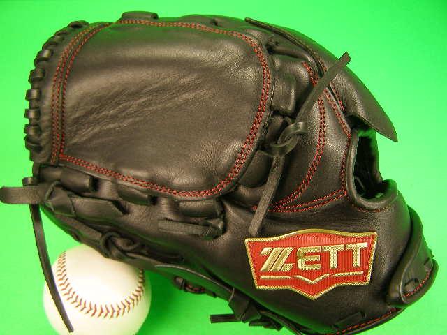 送料無料 型付け無料 ゼット ZETT 左投げ用 投手用 ブラック 硬式野球用 学生野球対応カラー ピッチャー グローブ 硬式 ソフト