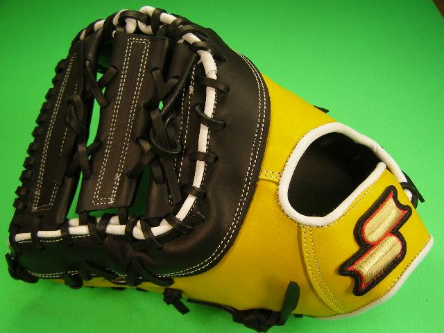 送料無料 型付け無料 SSK エスエスケー 左投げ用 ファーストミット イエロー×ブラック 硬式野球用 海外モデル 一塁 野球 ソフトボール