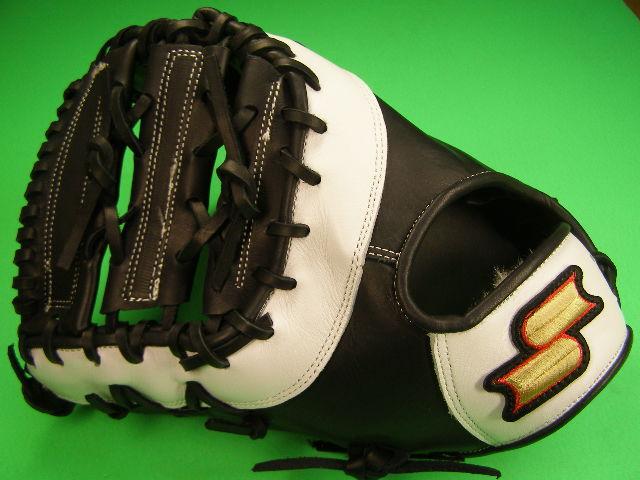 送料無料 型付け無料 SSK エスエスケー 左投げ用 ファーストミット ブラック×ホワイト 硬式野球用 海外モデル 一塁 野球 ソフトボール