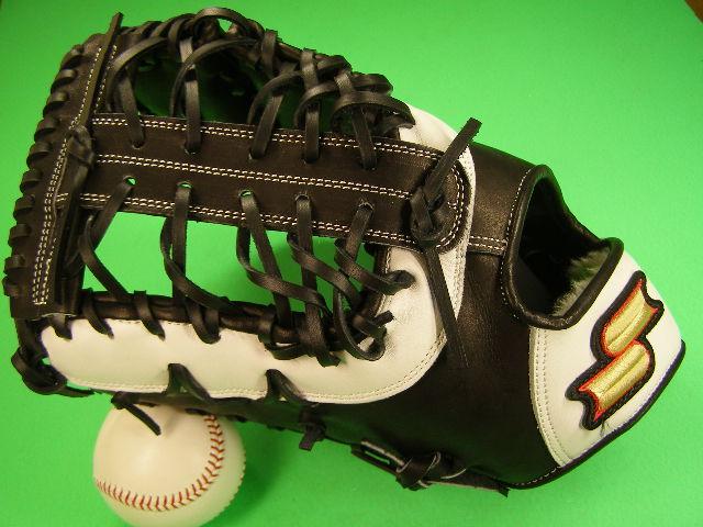 送料無料 型付け無料 SSK エスエスケー 左投げ用 アメリカンスタイル ファーストミット ブラック×ホワイト 硬式野球用 海外モデル 一塁 野球 ソフトボール