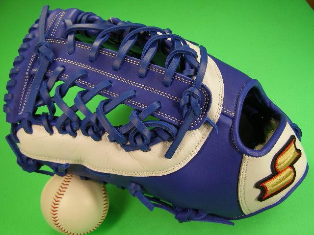 送料無料 型付け無料 SSK エスエスケー 左投げ用 アメリカンスタイル ファーストミット ブルー×ホワイト 硬式野球用 海外モデル 一塁 野球 ソフトボール