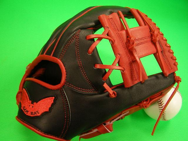 送料無料 型付け無料 SAM BAT サムバット 内野用 レッド×ブラック Hクロス 硬式野球対応 グローブ 11.75 インチ ソフト 野球 兼用 輸入品