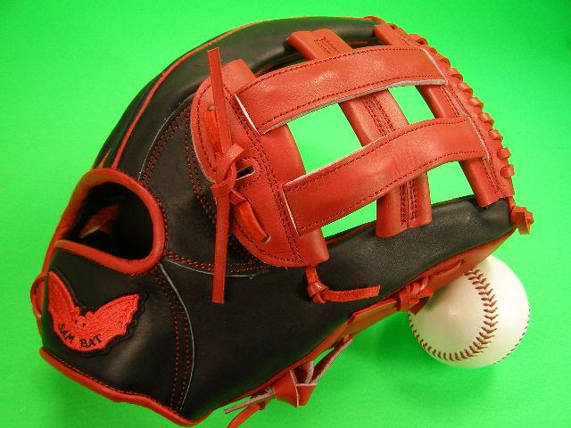 送料無料 型付け無料 SAM BAT サムバット オールラウンド用 レッド×ブラック 硬式野球対応 グローブ 12 インチ ソフト 野球 兼用 輸入品