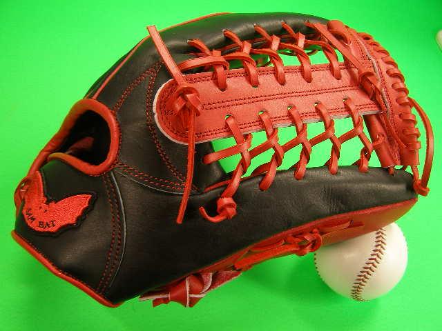 送料無料 型付け無料 SAM BAT サムバット 外野用 レッド×ブラック 硬式野球対応 グローブ 12.75 インチ ソフト 野球 兼用 輸入品
