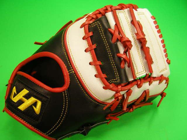 型付け無料 HATAKEYAMA ハタケヤマ 海外モデル 硬式野球対応 ファーストミット ブラック×レッド×ホワイト 硬式 ファースト ソフトボール