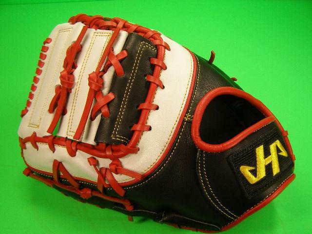 型付け無料 HATAKEYAMA ハタケヤマ 海外モデル 左投げ用 硬式野球対応 ファーストミット ブラック×レッド×ホワイト 硬式 ファースト ソフトボール
