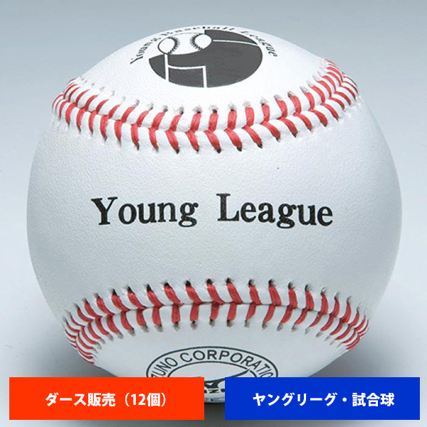 ミズノ ヤングリーグ 硬式試合球 (1ダース売り) 1BJBL71200 ball16