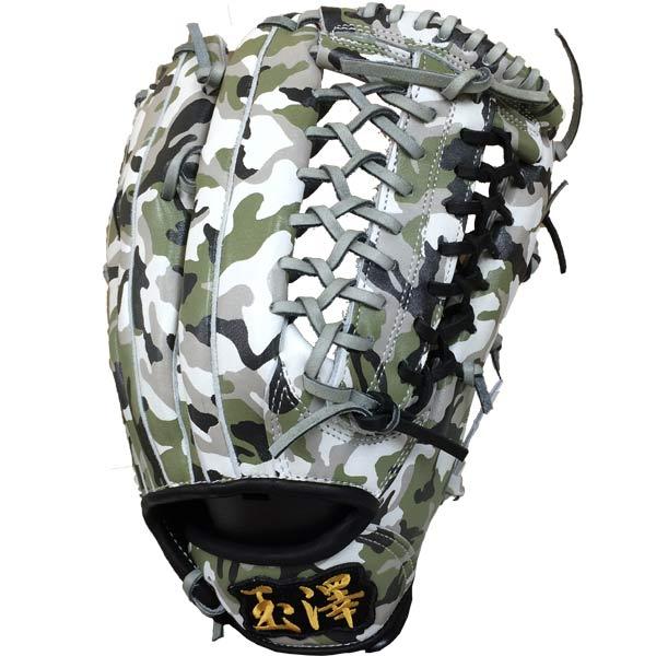あす楽 限定 タマザワ×BM オリジナル 軟式 外野手用 グラブ 右投用 カモフラ柄 グラブ袋付き