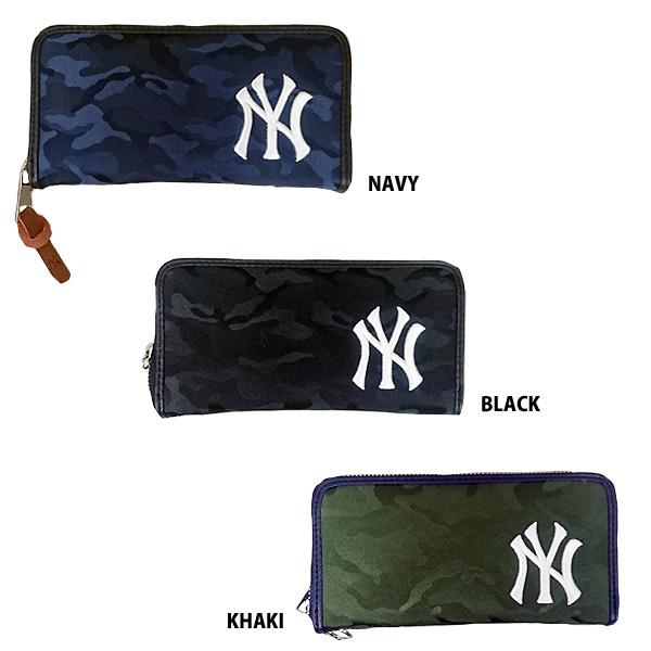 448bd06036e7 楽天市場】あす楽 イーカム MLB 長財布 ニューヨークヤンキース 織カモ柄 ...