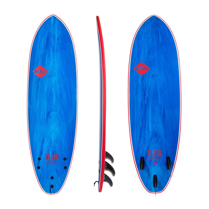 """SOFTECH サーフボード 5'7"""" FLASH ERIC GEISELMAN BLUE/MARBLE PERFORMANCE SOFTBOARD 【2018 ソフテック 限定】 SURFBOARD ソフトボード 送料無料"""