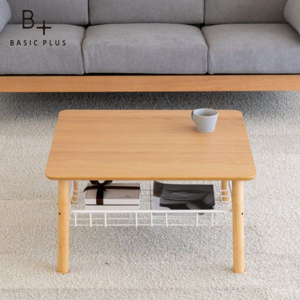 テーブル センターテーブル ローテーブル オーク材 ライトブラウン 幅70 奥行70 高さ37 SOSTA COFFEE TABLE 70 (WO-V-NA) ISSEIKI 101-02132