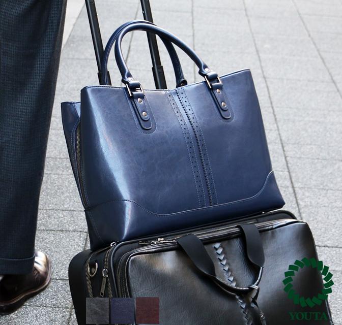 ビジネスバッグ メンズ ビジネスバッグ ブリーフケース ビジネスバック ビジネス鞄 出張 自立 レディース A4 軽量 3way 大容量 バッグ 防水 レザー ビジネス ネイビー スーツ ブラック ブラウン A4 YOUTA ヨータ Y64