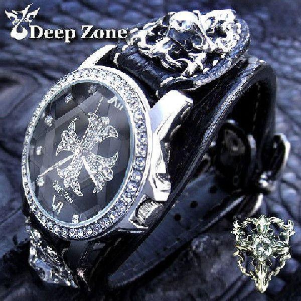 腕時計 メンズ/クロコダイルレザーブレスウォッチ ホワイトメタルコンチョ [ALW-039]