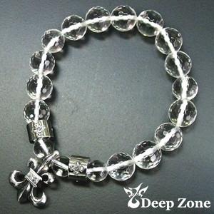 【Deep Zone】 クリスタルブレスレット リリィデザインシルバー925製トップ【10P22Jul11】