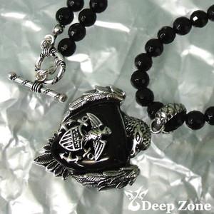 [Deep Zone] オニキスネックレス & SILVER925ペンダントxブラックスター