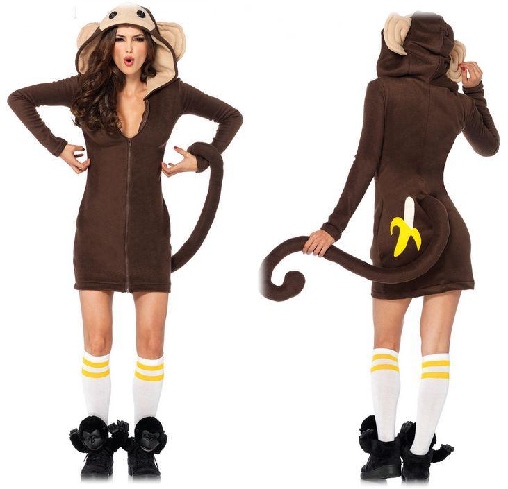 85309フリースモンキーコスチューム おさる猿 大人用 コスプレ衣装 /LEG AVENUEレッグアベニュー コスプレ・仮装・ハロウィン・女性・大人用