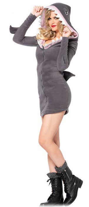 85312フリースシャークコスチューム 大人用 コスプレ衣装 /LEG AVENUEレッグアベニュー コスプレ・仮装・ハロウィン・女性・大人用