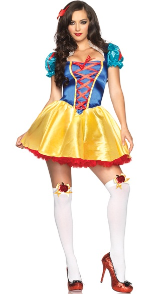 白雪姫 クラシックスノープリンセスコスチューム 2点セット ディズニー 仮装コスチューム コスプレ /LEG AVENUEレッグアベニュー コスプレ・仮装・ハロウィン・女性大人用