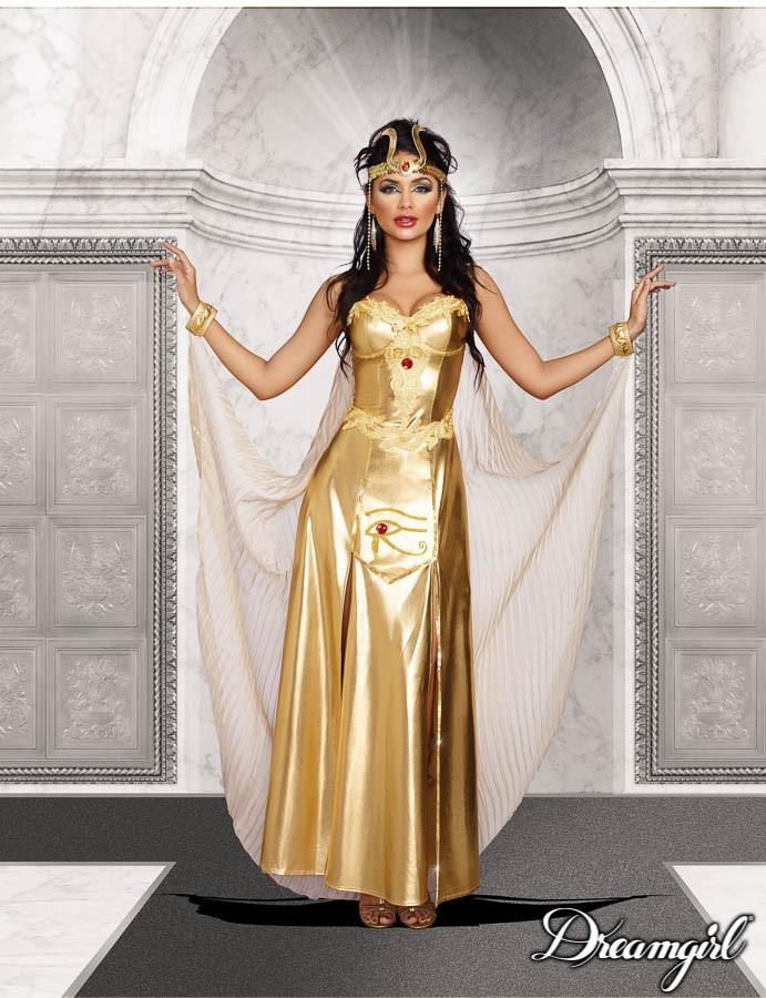 ゴッドネス・オブ・エジプト  大人女性  2点セット コスチューム コスプレ衣装 (二次会、結婚式、仮装、パーティー、宴会、ハロウィン)
