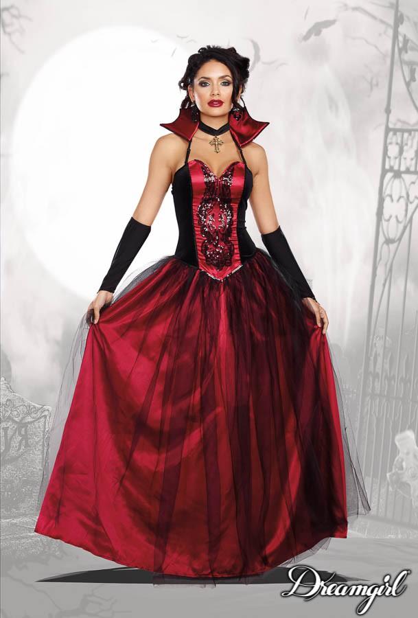 ブラッディ・ビューティフル 大人女性  2点セット コスチューム コスプレ衣装 (二次会、結婚式、仮装、パーティー、宴会、ハロウィン)