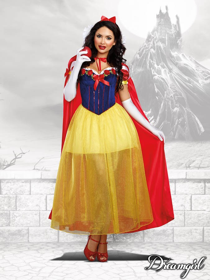 ハッピリー エバー アフター 大人女性 3点セット コスチューム コスプレ衣装 (二次会、結婚式、仮装、パーティー、宴会、ハロウィン)