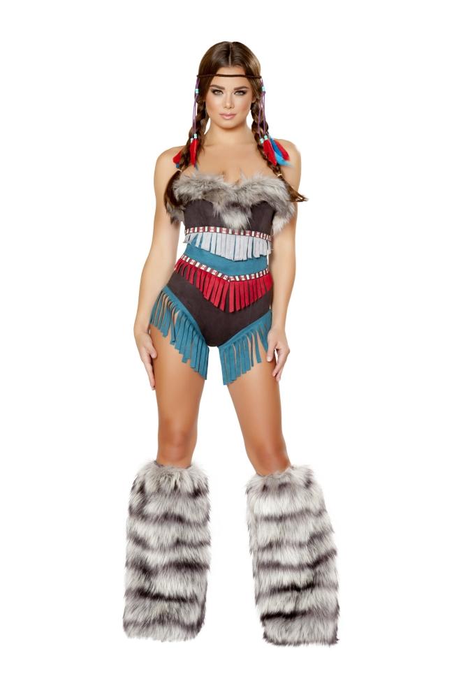 インディアンガールのコスチューム2点セット Roma Costumeローマコスチューム セクシー コスプレ衣装 (二次会、結婚式、仮装、パーティー、宴会、ハロウィン) 女性 大人用