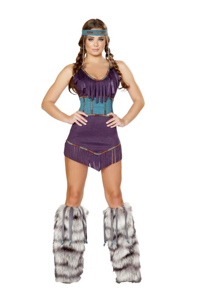 部族ガールのコスチューム3点セット Roma Costumeローマコスチューム セクシー コスプレ衣装 (二次会、結婚式、仮装、パーティー、宴会、ハロウィン) 女性 大人用