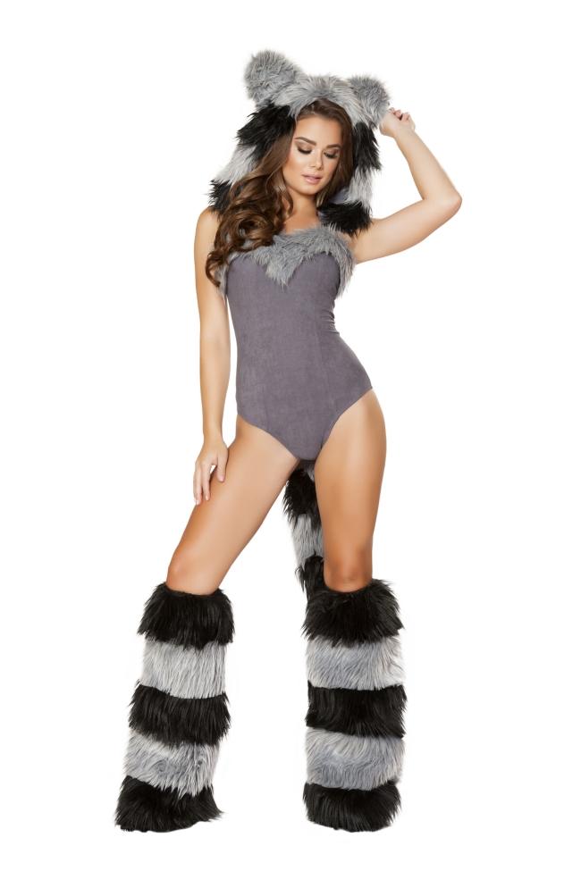 毛皮のアライグマのコスチューム Roma Costumeローマコスチューム セクシー コスプレ衣装 (二次会、結婚式、仮装、パーティー、宴会、ハロウィン) 女性 大人用