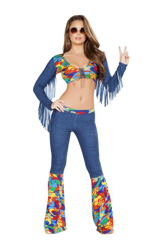 ディスコガールのコスチューム2点セット Roma Costumeローマコスチューム セクシー コスプレ衣装 (二次会、結婚式、仮装、パーティー、宴会、ハロウィン) 女性 大人用