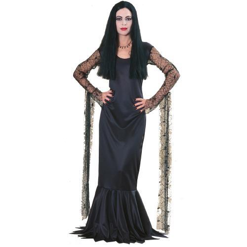 アダムスファミリー モーティシア 女性 大人用 /コスチューム コスプレ衣装 (二次会、仮装、パーティー、宴会、ハロウィン)女性 大人用