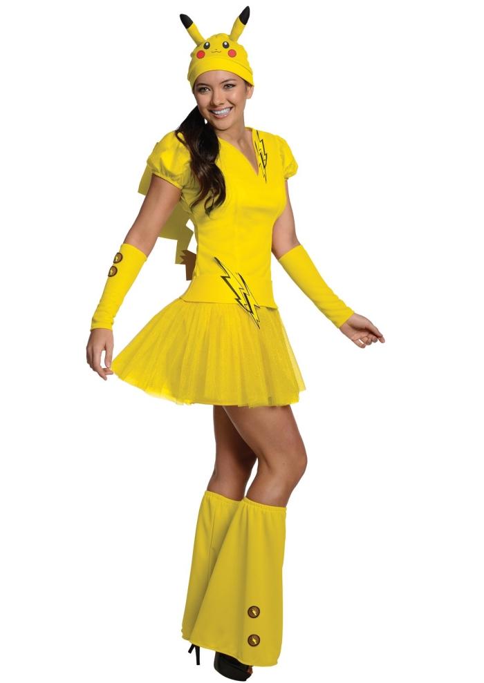 Pokemonポケモン ピカチュー コスチューム コスプレ衣装 (二次会、結婚式、仮装、パーティー、宴会、ハロウィン) 女性 大人用