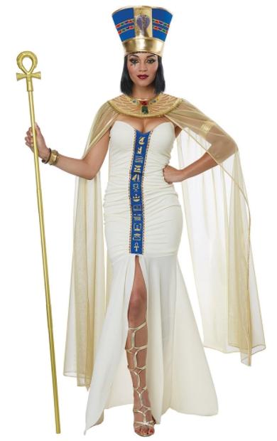 クィーンオブエジプト アダルトコスチューム 4点セット 女性用 コスプレ衣装 (二次会、仮装、パーティー、ハロウィン)大人女性用