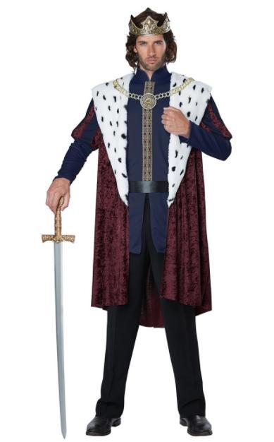 ロイヤル ストーリーブック キング アダルトコスチューム 5点セット 男性用 コスプレ衣装 (二次会、仮装、パーティー、ハロウィン)大人男性用