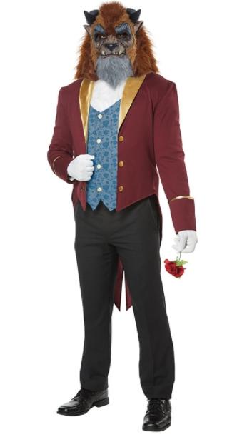 ストーリーブック ビースト アダルトコスチューム 4点セット 男性用 コスプレ衣装 (二次会、仮装、パーティー、ハロウィン)大人男性用