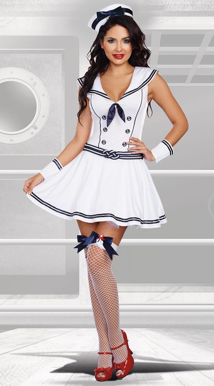 ボート ロッキンセイラー ベイブ コスチューム 5点セット 女性用 コスプレ衣装 (二次会、仮装、パーティー、ハロウィン)大人女性用