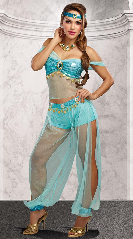 ハーレム プリンセスコスチューム 4点セット 女性用 コスプレ衣装 (二次会、仮装、パーティー、ハロウィン)大人女性用