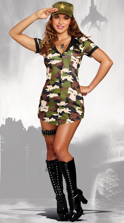 ブーティキャンプコスチューム 5点セット 女性用 コスプレ衣装 (二次会、仮装、パーティー、ハロウィン)大人女性用