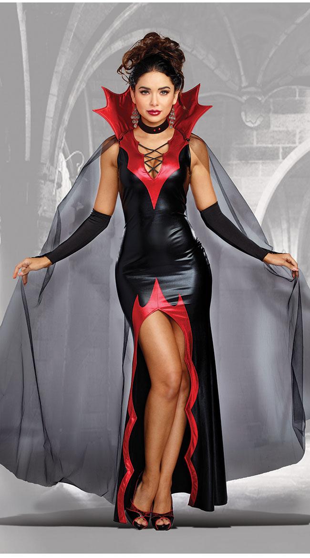 キリングイット バンパイアコスチューム 女性用 コスプレ衣装 (二次会、仮装、パーティー、ハロウィン)大人女性用