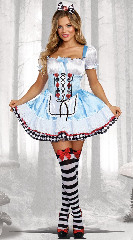 ビヨンド ワンダーランド レディースコスチューム 2点セット 女性用 コスプレ衣装 (二次会、仮装、パーティー、ハロウィン)大人女性用
